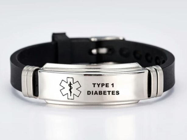 Pulseira Identificação de Diabetes/ Hipoglicemia