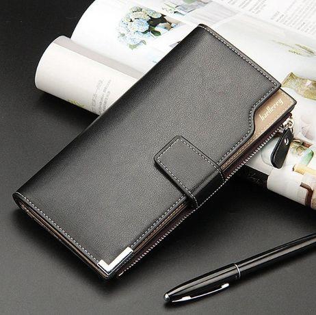 Кошелек мужской кожаный Baellerry клатч чоловічий гаманець бумажник