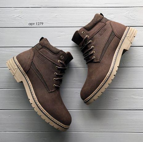 Классные зимние ботинки Brown 40,41,42,43,44,45 черевики зимові