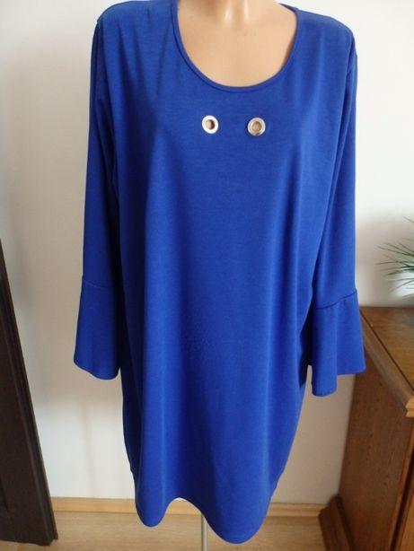 Sukienka szafirowa dzianniowa 52