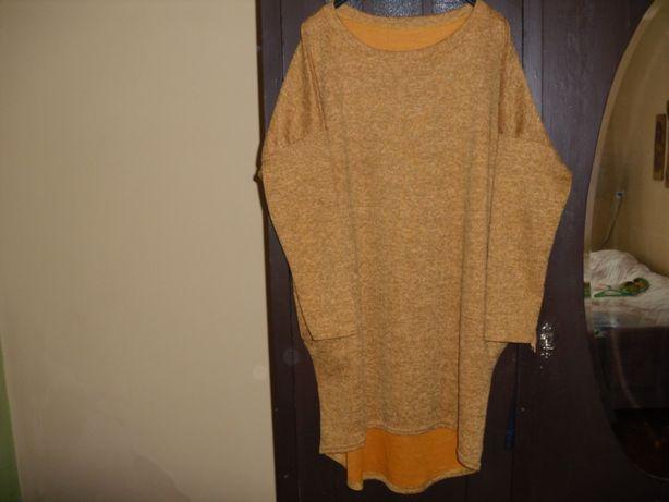 Sukienka-tunika miodowa R.(40-44).