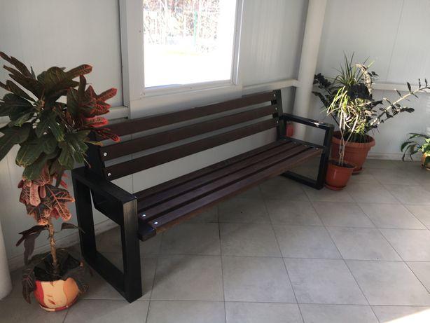 Скамейка деревянная в стиле лофт для сада и дома Рапсодия