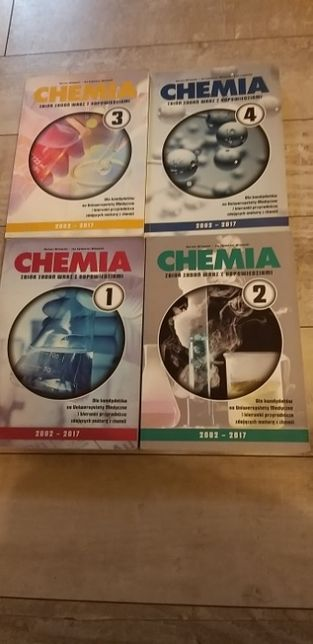 Chemia Zbiór zadań wraz z odpowiedziami tom od 1-4
