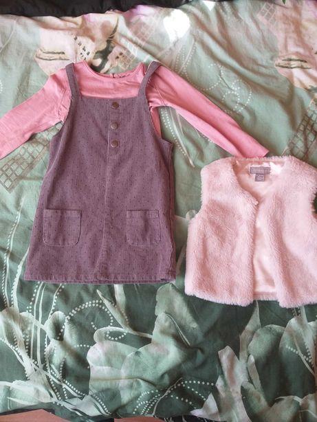 Komplet wiosna sukienka, polerko, bluzka