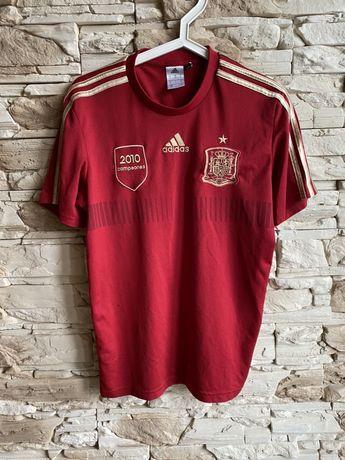 Koszulka piłkarska Adidas reprezentacja Hiszpanii 2010 sportowa czwer