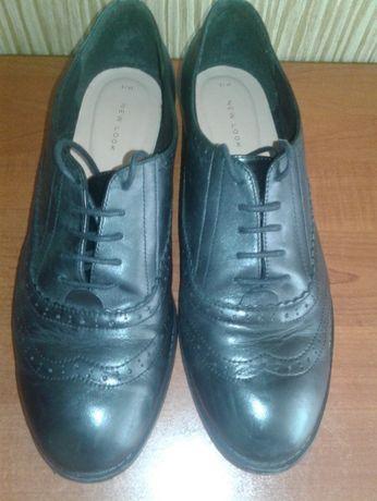 Кожаные туфли NEW LOOK р-р 43 стелька 28 см