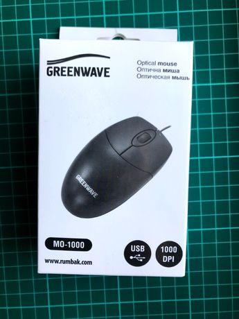 Миша Greenwave MO 1000 USB Black