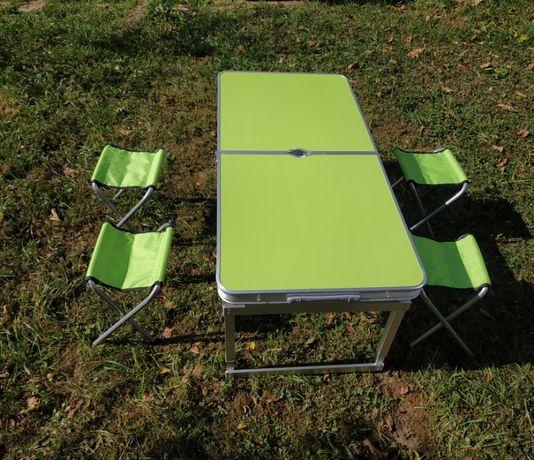Зручний і компактний посилений столик розкладушка для відпочинку на св
