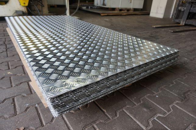 Blacha ryflowana aluminiowa, aluminium 3x1000x2000 na podesty, laweta