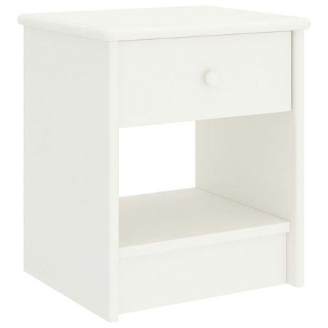 vidaXL Mesa de cabeceira 35x30x40 cm madeira de pinho maciça branco 322222