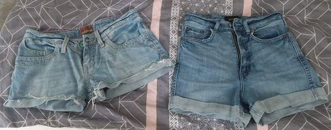 Zestaw paka krótkie spodenki jeansowe rozmiar xs