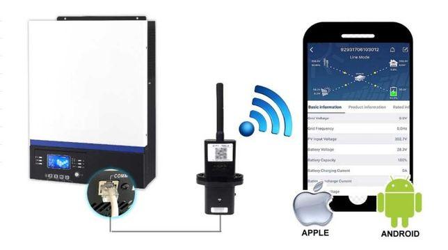 Wifi monitorando inversores híbridos axpert