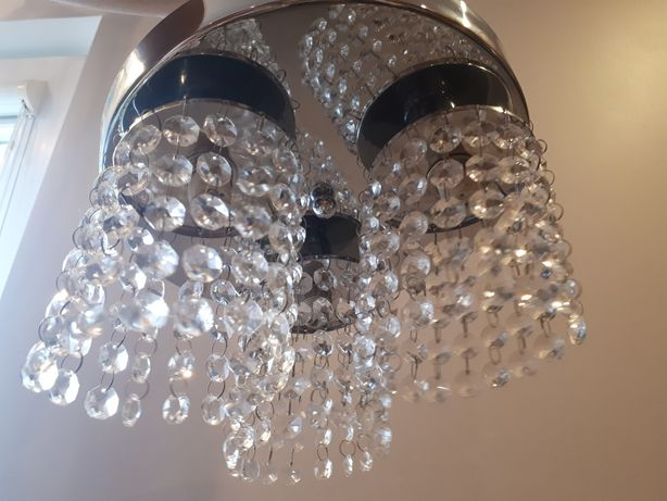 Żyrandol plafon CANDELLUX chrom kryształki