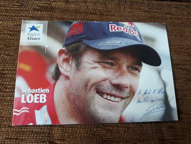 Aurograf Sebastien Loeb - Kierowca rajdowy