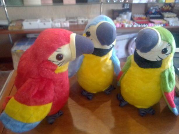 Мягкая Игрушка Повторюшка-попугай