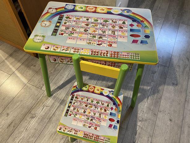 Парта детская, стол и стул детский, набор стульчик и стол