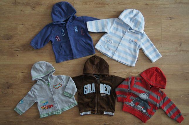 Bluzy 74 6-9 miesięcy bluza polar sweterek 6 sztuk