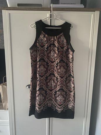 Lekka sukienka w kolorowe wzorki L/XL Dunnes