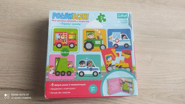 """Puzzle Trefl połóweczki """"Pojazdy i zawody"""""""