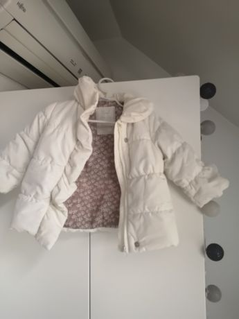 Piękna elegancka kremowa/ecru kurtka Zara Baby, rozm. 74, idealna!
