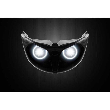 Przerobiony reflektor BI-LED + ring - Yamaha FJR1300 (13-15)