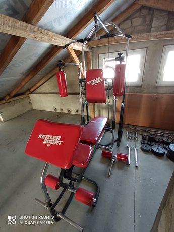Atlas KETTLER do ćwiczeń, wyciąg, obciążenie 222 kg, gryf