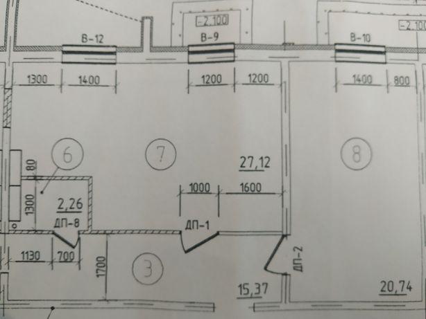 Фасадное помещение в сданом доме. 63 м кв. ЖК Северный