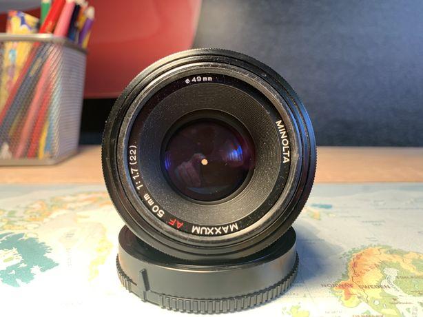 Obiektyw Minolta Maxxum 50 f 1.7 Sony A Lustrzanka