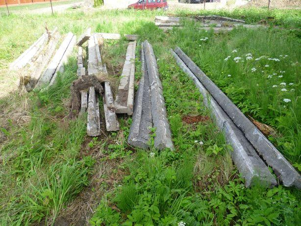 Belki betonowe zbrojone stropowe, żerdzie, tregle - długość 4,5 metra