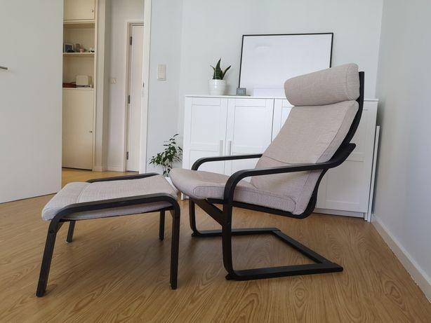 Poltrona e pousa pés poang IKEA c garantia