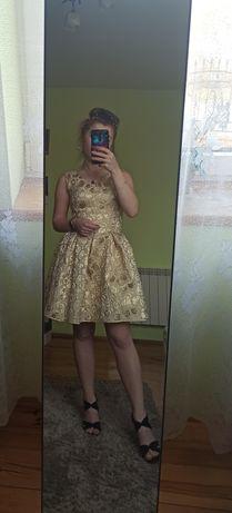 Złota sukienka r.36