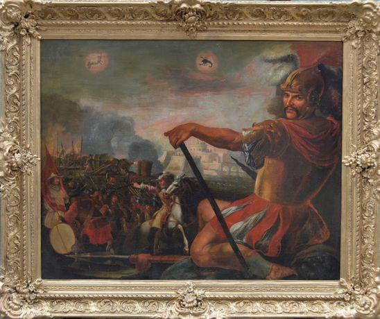 Картина конец 17 начало 18 века, Бог войны Марс. Размер 110 х 133 см..