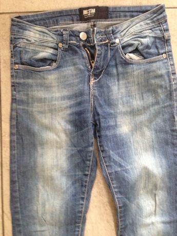 Spodnie dżinsy rurki z elastanem S Big star