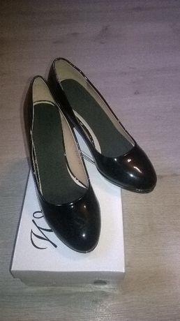 buty na obcasie 38 czarne