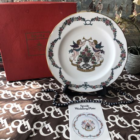 Тарелка колекционна тарелка панно Spode Wedding plate
