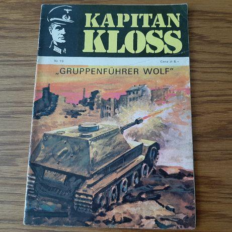"""Komiks Kapitan Kloss """" Gruppenfuhrer Wolf"""" nr 19 wyd. I z 1973 roku"""