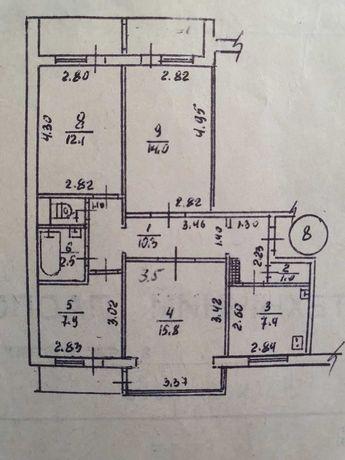 4-х комнатная светлая и чистая квартира. Академика Александрова 17