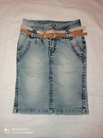Юбка - карандаш джинсовая