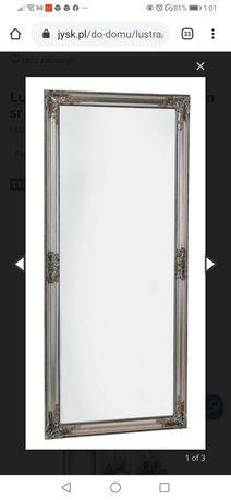 Duże lustro 162x72 w srebrnej ramie
