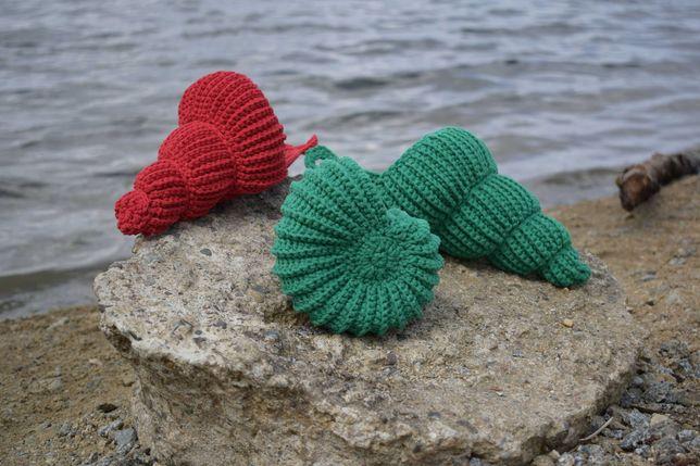 Ozdobna muszla szydełkowa (handmade)