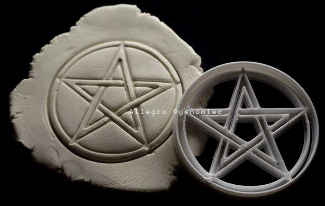 Foremka wykrawacz do ciastek HALLOWEEN pentagram goth aesthetic