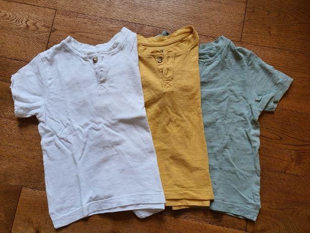 PACZKA: Koszulka z krótkim rękawem H&M rozm. 92 - typ: henley