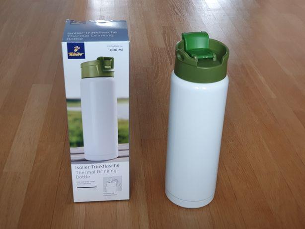 Bidon termiczny Tchibo 600 ml stal termos kubek butelka nowy