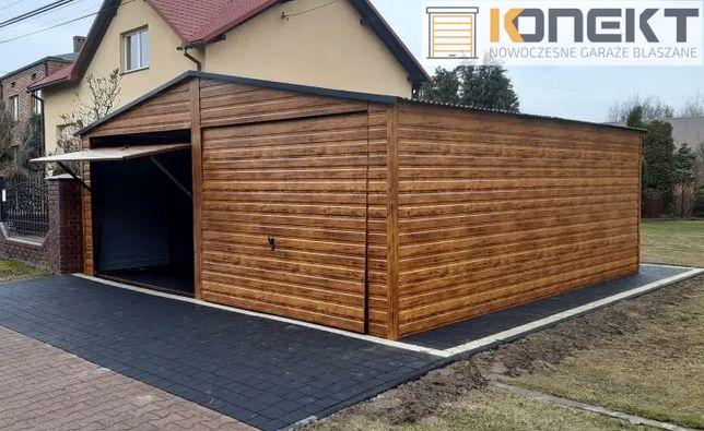 Garaż Blaszany Drewnopodobny Garaże Blaszane 6x5 6x6 7x6 7x5 4x6 3x5