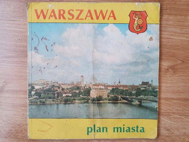 Warszawa plan miasta z 1982 roku