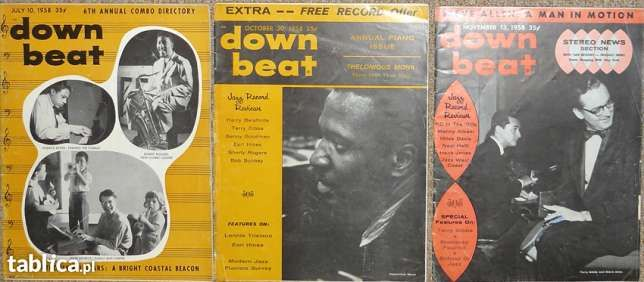 """""""DOWN BEAT"""" – 3 numery z 1958 roku !"""