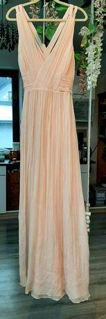 Suknia sukienka jedwabna 100% wieczorowa balowa MANGO r. 42/44