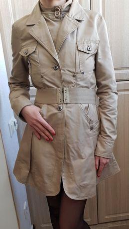 Бежевый тренч плащ пальто DKNY Donna Karan р.S