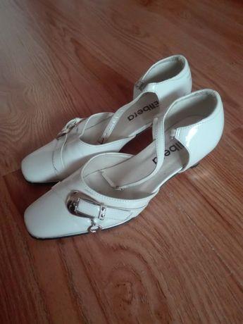 Białe buty dla mażoretek, buty do komunii - rozm. 34