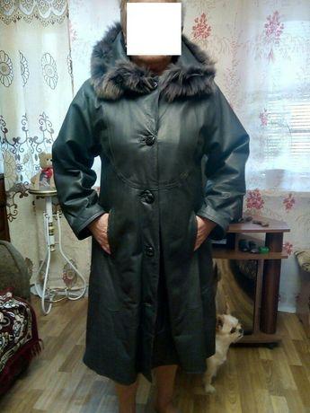 Пальто зима кожа